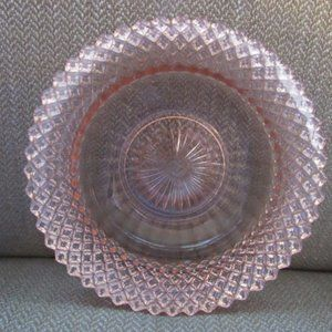 Pink glass Miss America pattern small bowl